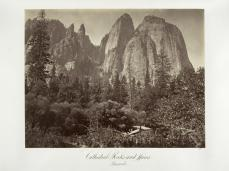 Carlton E. Watkins; Cathedral Rocks and Spires; c.1872; albumen silver print from glass negative; The Metropolitan Museum of Art