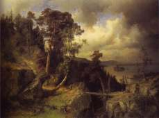 Alfred Wahlberg, Swedish Landscape, a View from Kolmarden, 1866