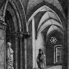 Albrecht Altdorfer; Regensburg Synagogue; 1519; etching