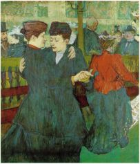 At the Moulin Rouge Two Women Waltzing 1891