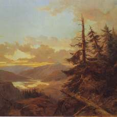 Charles XV, Landscape at Dawn 1863