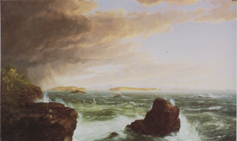 Thomas Cole; View Across Frenchman's Bay from Mount Desert Island After A Squall; 1845