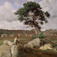 ean-Baptiste-Camille Corot; Le Rageur, Forest of Fontainebleau; c.1830
