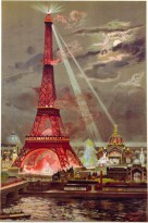 EiffelTower2 Georges Garen univer expos, 1889 col woodcut