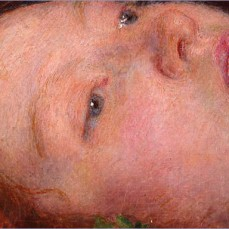 John Everett Millais; Ophelia (detail); 1851-1852; oil on canvas; 76.2 x 111.8 cm; Tate Britain, London