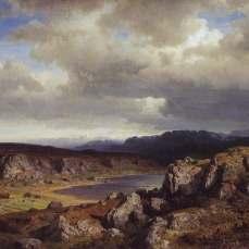 Hans Gude, Hojfjell 1857
