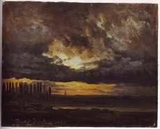 JC DAHL Elbe Valley in Evening light 1832