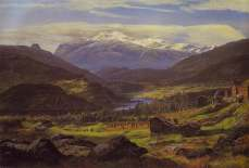 JC DAHL view from Hjelle in Valdres 1851