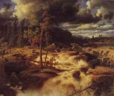 MArcus Larson, Waterfall in Smaland 1856