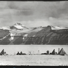 Scott, R F Antarctic Dec. 20, 1911. Scott took this impressive image to capture the interesting geological features of the mountains around Mount Wild.