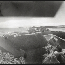 Scott, R F Antarctic , Oct. 8, 1911. Scott's photograph of the ice crack is modernist in its aesthetic, showing the buildup of ice pressure from the tides and currents over the preceding winter.