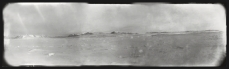 Scott, R F Antarctic , Sept. 25, 1911. A view from the sea ice showing, from the left, the Blue Glacier, the Ferrar Glacier and the Kukri Hills; the Kukri Hills to Victoria Lower Glacier; and the Victoria Lower Glacier to Cape Roberts.