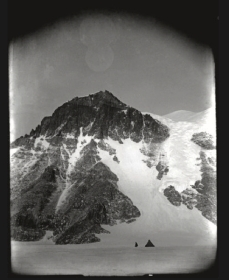 Scott, Robert Falcon, Antarctic , September 1911. With the pyramid tent foreshadowing one of the great peaks of Cathedral Rocks, Scott delivered a splendid photograph in the picturesque landscape tradition.
