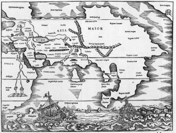 Sebastian Munster Asien, In Cosmographia, Beschreibung aller Lender. Basel 1546.