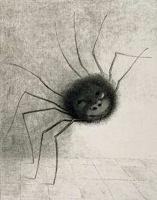 Odilon Redon; The Spider; 1887; lithograph