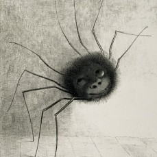 Odilon Redon; The Spider; 1887; lithograph