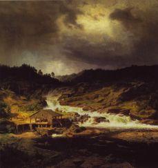 Werner Holmberg, Waterfall at Kyro, 1854