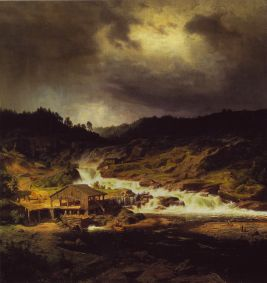 Werner Holmberg, Waterfall at Kyro, 1854