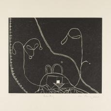 Martin Puryear; Becky, from the Cane portfolio; 2000; woodcut on handmade Japanese paper; 43.0 x 52.2 cm; Princeton University Art Museum