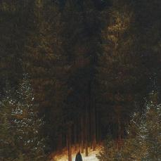 Caspar David Friedrich; Chasseur in the Forest; 1813