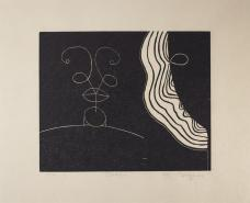 Martin Puryear; Esther, from the Cane portfolio; 2000; woodcut on handmade Japanese paper; 43.0 x 52.2 cm; Princeton University Art Museum