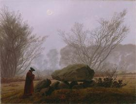 Caspar David Friedrich; A Walk at Dusk; 1830-35; oil on canvas