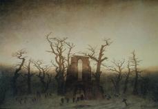 Caspar David Friedrich; Abbey in an Oak Grove; 1809-10
