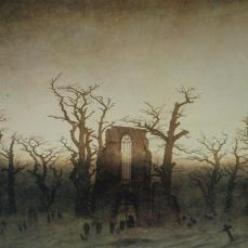 Caspar David Friedrich; Abbey in an Oak Grove; 1809-10