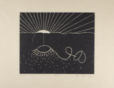 Martin Puryear; Avery, from the Cane portfolio; 2000; woodcut on handmade Japanese paper; 43.0 x 52.2 cm; Princeton University Art Museum