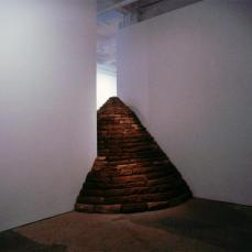 Andy Goldsworthy; Passage - Three Cairns; 2003; Exhibited at Galerie Lelong, Fall 2002- Winter 2003