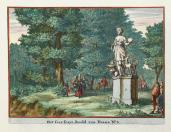 Johannes van den Aveele; Zorgvliet: Statue of Diana; etching; c.1691-98; Elizabeth Barlow Rogers Collection (New York, NY)