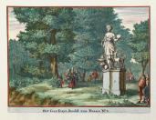 Johannes van den Aveele; Zorgvliet: Statue of Diana; etching; c.1691-98; Elizabeth Barlow Rogers Collection (New York, NY)