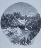 Frederick Law Olmsted; New York: Central Park Reference: Cave from Lake; 1869; New York, NY