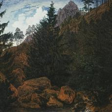Caspar David Friedrich; Rocks; 1811; oil on canvas; 32 x 45 cm