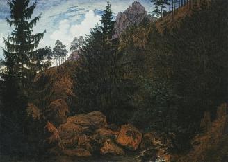Caspar David Friedrich; Rocks; 1811; oil on canvas; 32 x 45 cm