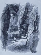 Frederick Law Olmsted; New York: Central Park Reference: interior of cave; 1869; New York, NY