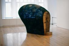 Martin Puryear; Confessional; 1996-2000; wire mesh, tar, and wood