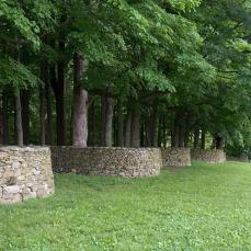 Andy Goldsworthy; Storm King Wall (detail); 1997-8; dry stacked stone; Storm King Art Center, Old Pleasant Hill Road, Mountainville, New York