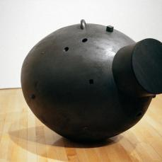 Martin Puryear; The Nightmare; 2001-2; red cedar painted black