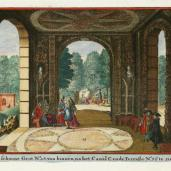 Johannes van de Aveele; Zorgvliet: The Beautiful Grotto; etching; 1691-98; 12.5 x 16 cm; Elizabeth Barlow Rogers Collection