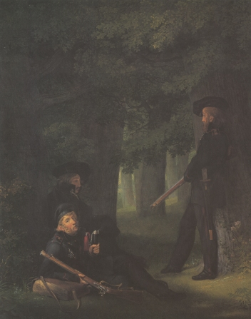 Georg Friedrich Kersting, Korner, Friesn, and Hartmann on Outpost Duty, 1815