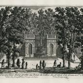 Adam Perelle, Nicholas Perelle; View and perspective of a grotto at the end of the passage of the great water jet at Saint -Cloud (Plate 68); 14.60 x 25.40 cm; Elizabeth barlow Rogers Collection (New York, NY)