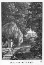 J. Merigot; Fontaine du bocage; 1788