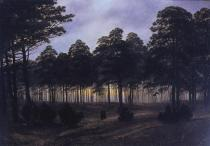 Caspar David Friedrich; Four Times of Day: Evening; 1820-5; oil on canvas; 22.3 x 31 cm; Niedersächsisches Landesmuseum Hannover