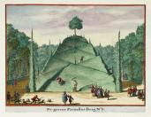 Johannes van de Aveele; Zorgvliet: Large Mount Parnassus; etching; 1691-98; 12.5 x 16 cm; Elizabeth Barlow Rogers Collection (New York, NY)