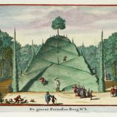 Johannes van de Aveele; Zorgvliet: Large Mount Parnassus; etching; 1691-98; 12.5 x 16 cm; Elizabeth Barlow Rogers Collection (New York, NY)