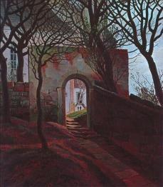 Caspar David Friedrich; Cemetery Entrance; 1822; oil on canvas; 38 x 33.8 cm; Staatliche Kunsthalle Karlsruhe