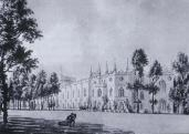 Horace Walpole; Twickenham: Strawberry Hill: drawing from the southeast, c. 1774; watercolor
