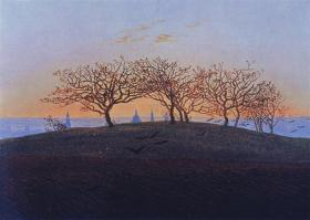 Caspar David Friedrich; Hill and Ploughed Field Near Dresden; 1824; oil on canvas; 22.2 x 30.5 cm