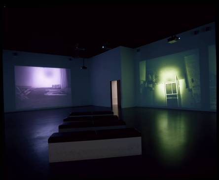 MAPPING THE STUDIO II with color shift, flip, flop, & flip/flop (Fat Chance John Cage) 2001 by Bruce Nauman born 1941